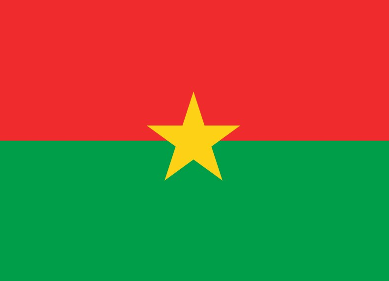 National flag of Burkina