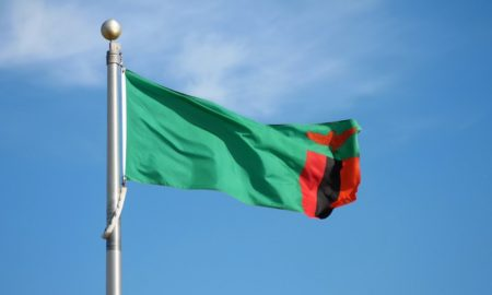 national Flag of Zambia