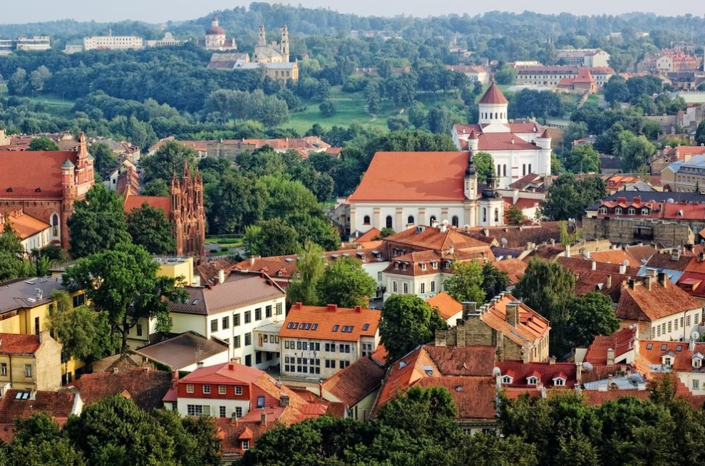 Vilnius capital city of lithuania