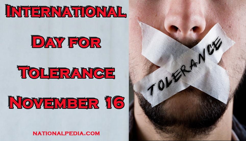 International Day for Tolerance November 16