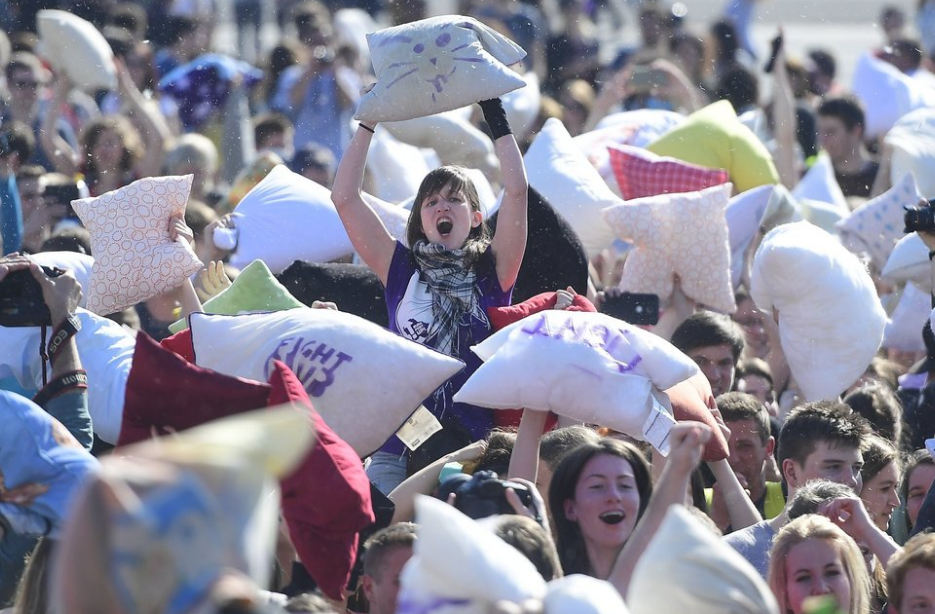 World Day of Pillow Battles April 02